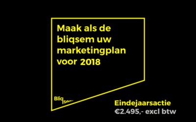 Maak als de bliqsem uw marketingplan 2018